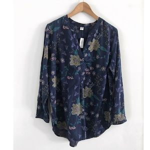 NWT Old Navy Top Blouse Shirt Size L floral